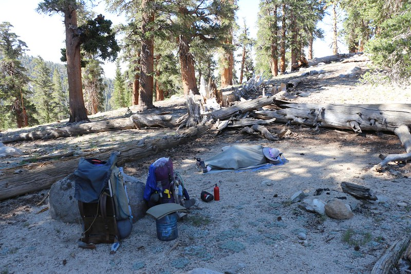 We took a long break at the highest point where the PCT traverses Olancha Peak - there was a nice campsite there