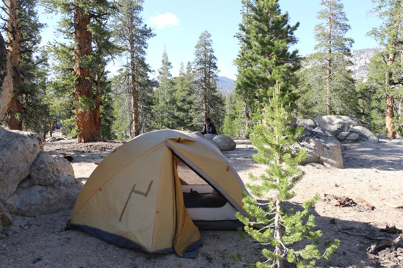 Our tent and campsite at Pacific Crest Trail mile 728