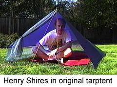 Henry Shires in original tarptent.