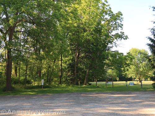 Parking area in Webster Park, New York