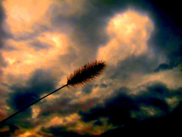 up high dramatic sky