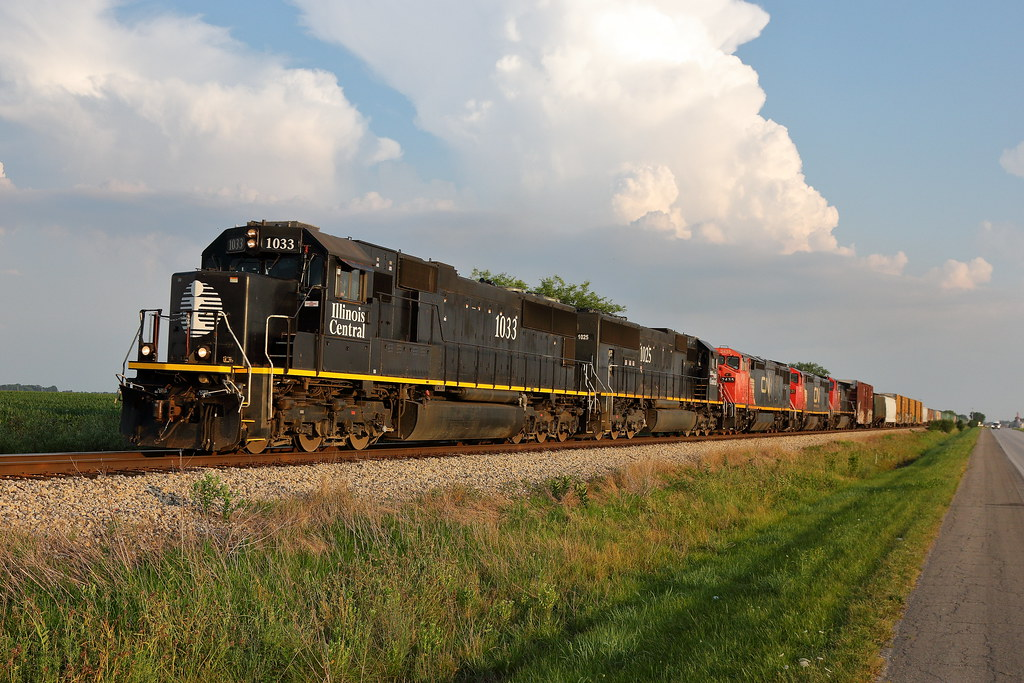 IC 1033 north in Savoy, Illinois on July 7, 2020.