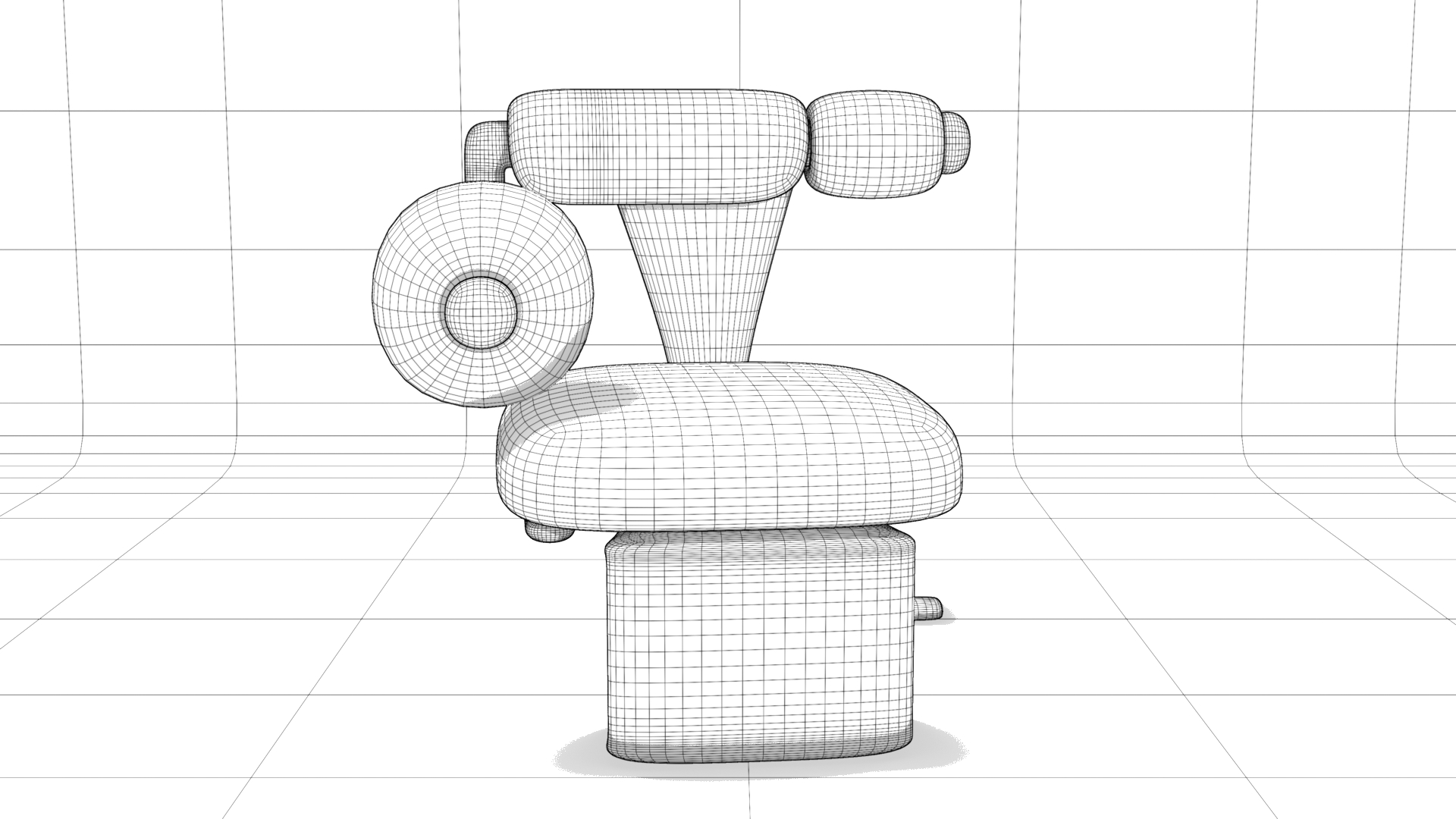 Chair No. 100, Chalk Style Render