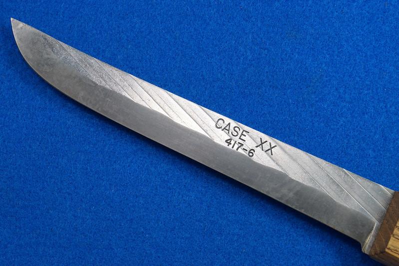 RD30611 Vintage Case XX 417-6 Carbon Steel Full Tang Boning Knife 6 inch Blade Brass Rivets DSC09022
