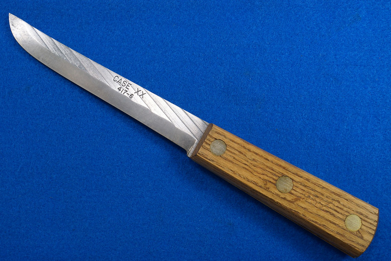 RD30611 Vintage Case XX 417-6 Carbon Steel Full Tang Boning Knife 6 inch Blade Brass Rivets DSC09019