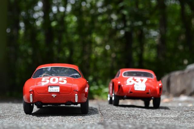 Ferrari 250 gt vs 340 Mexico Mille Miglia