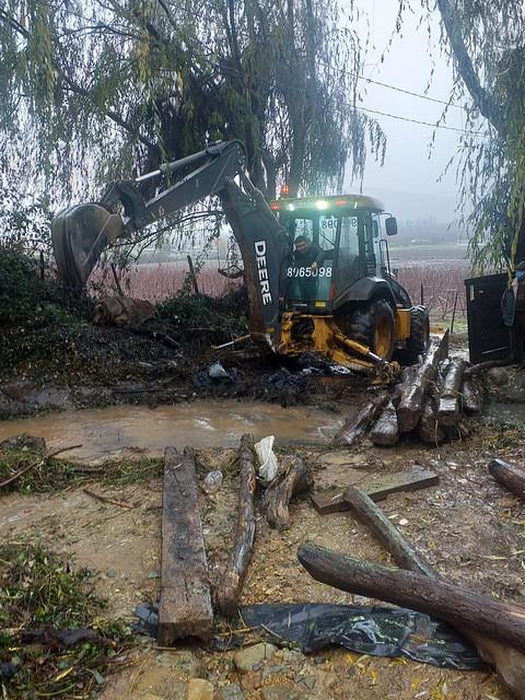 Intensas lluvias causaron inundaciones en caminos y viviendas de Coltauco