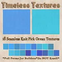 TT 18 Seamless Knit Pick Ocean Timeless Textures