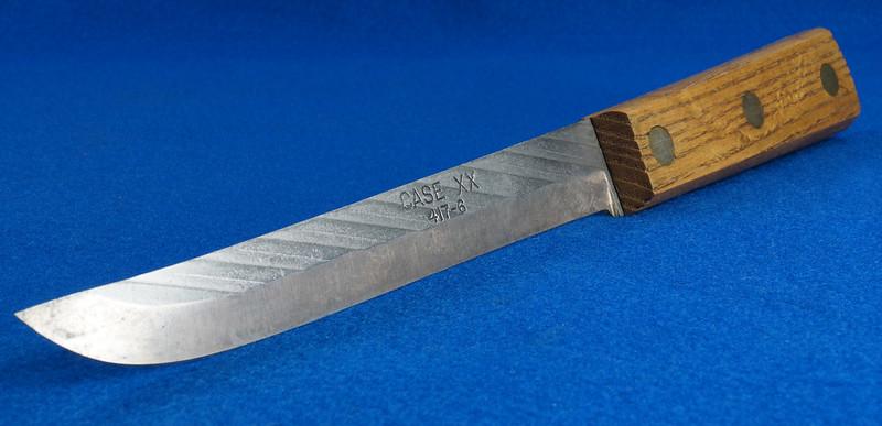 RD30611 Vintage Case XX 417-6 Carbon Steel Full Tang Boning Knife 6 inch Blade Brass Rivets DSC09029