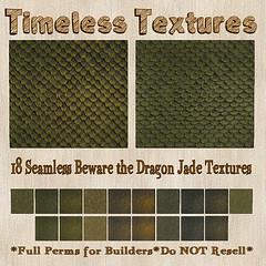 TT 18 Seamless Beware the Dragon Jade Timeless Textures