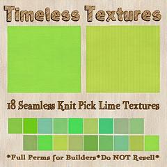 TT 18 Seamless Knit Pick Lime Timeless Textures