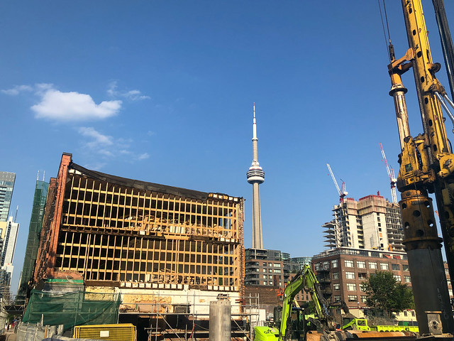 View from the development site of King Toronto by Bjarke Ingels Group