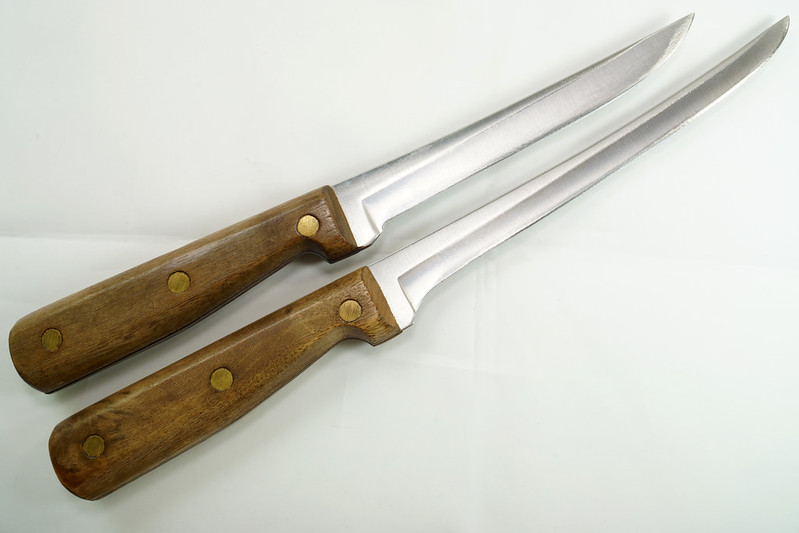 RD30591 2 Vintage Russell Green River Works USA Knives 8 Inch 179-8 & 6 inch 159-6 DSC09057