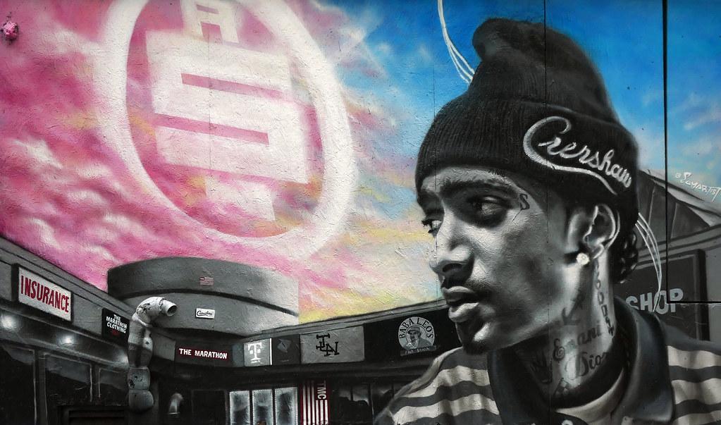Nipsey Hussle mural Grafitti Alley  Toronto.