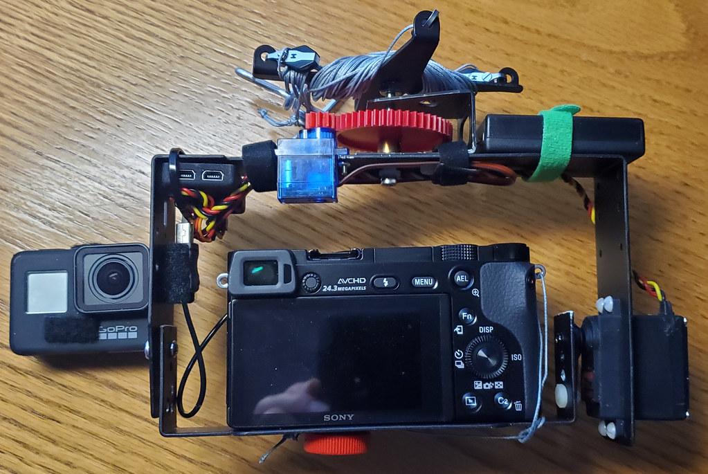 Kite Aerial Photography (KAP) rig use to hold camera.