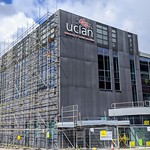 Another set of repairs to the cladding at the UCLan sports centre in Preston