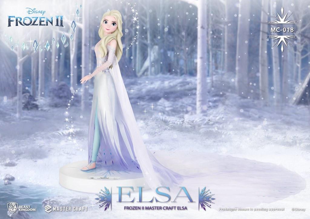 散發成熟御姐味的冰之女王降臨! 野獸國 Master Craft 系列《冰雪奇緣2》艾莎 (Elsa) 全身雕像 MC-018