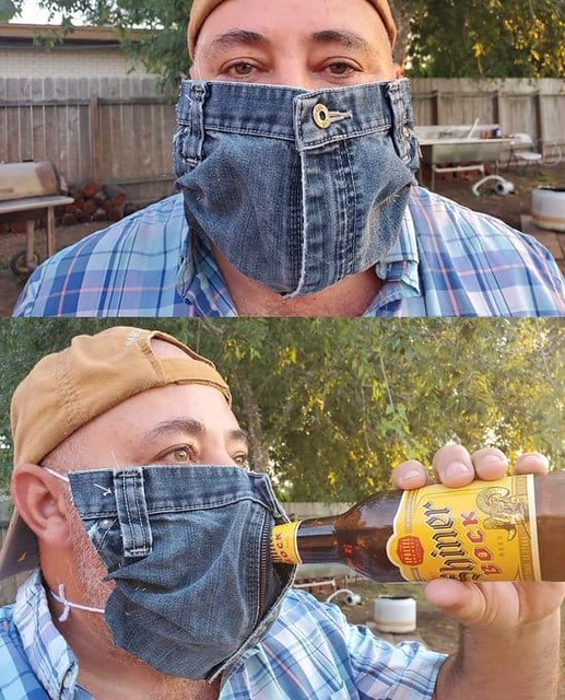 July 6 2020 - My New Mask - Won't let Mask stop Me from having a Beer