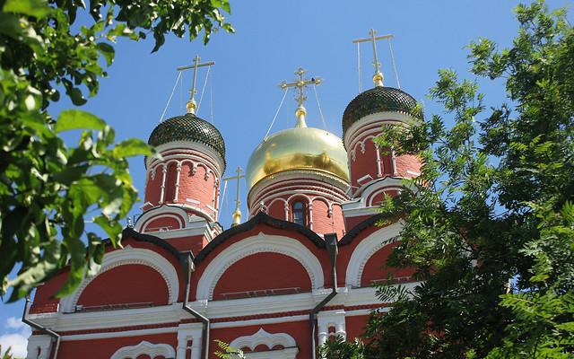 Holy Russia, Moscow Architecture, Znamensky Cathedral of the Znamensky Monastery - Cathedral of the Mother of God of the Sign, Zaryadye, Varvarka street, Kitai-Gorod, Tverskoy district. Православнаѧ Црковь.