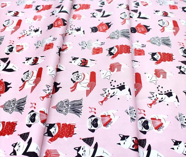 Cloud9 Fabrics Jingle Mingle 226951 Pawsome Holidays