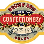 Thu, 2020-07-09 00:36 - 'Brown Bros. Superior Confectionery, Cross Skelton St., Colne. 2 oz. 1 d. Jas. Broadley Ltd., Accrington. 2111.'