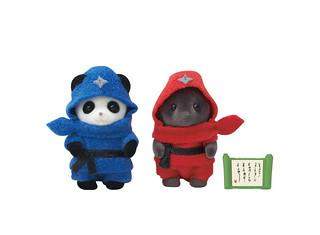 超萌小忍者參上!EPOCH《森林家族》35週年限定「嬰兒忍者」熊貓、鼴鼠寶寶組(赤ちゃん忍者)