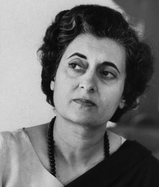First Woman Prime Minister of India Mrs. Indira Gandhi, 1967