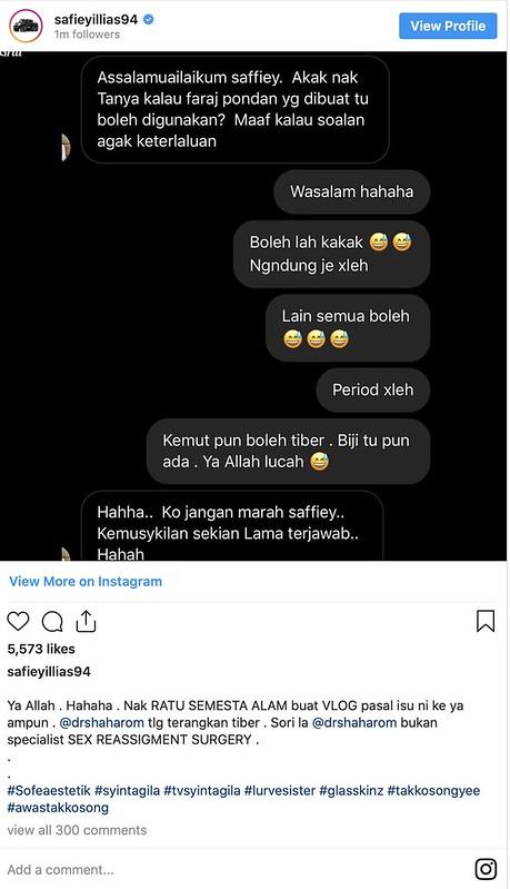 Safiey Illias Jawab Fungsi F*raj P*ndan & Transgender Selepas Pembedahan
