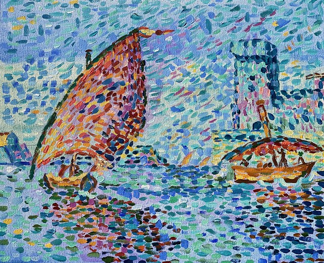 "Acrylic After Paul Signac's ""St.Jean Fort, Marseilles"""