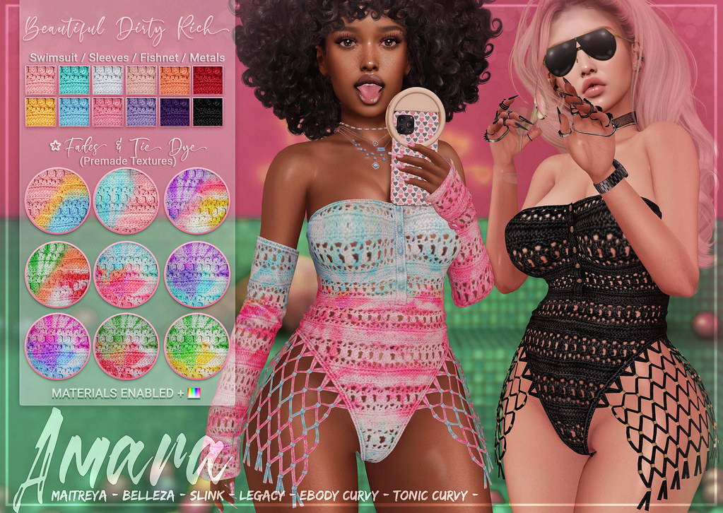 *B.D.R.* Amara -Crochet Swimsuit-