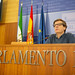 Rueda de prensa de Carmelo Gómez en el Parlamento.