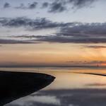 28. Juuni 2020 - 21:43 - Mündung des Grauwasserkanals in die Wesermündung. Bei Weddewarden im Cuxland.