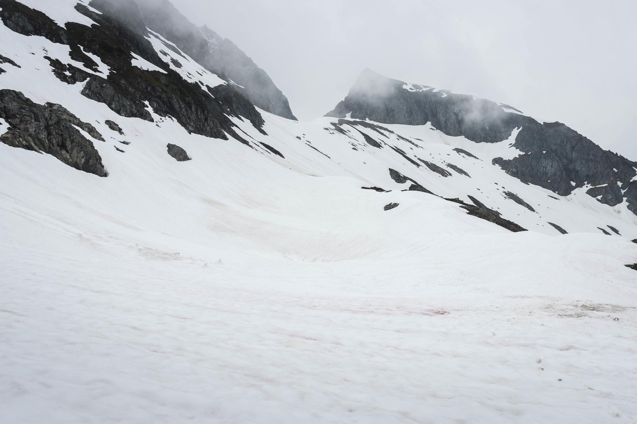 Kool-Aid Lake under the snow