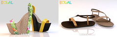 EQUAL - Lilian Wedges and Logan Sandals