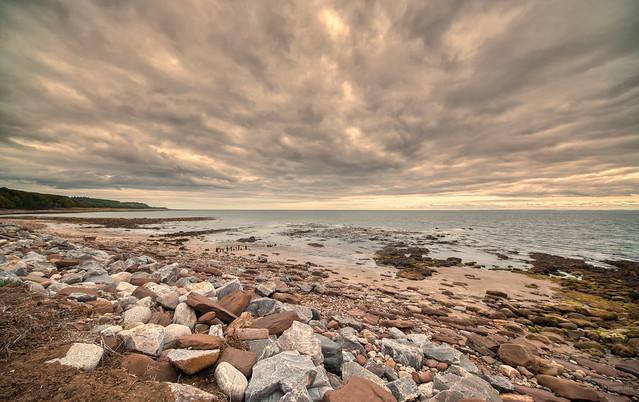 Rocky coast near Dunrobin Castle.