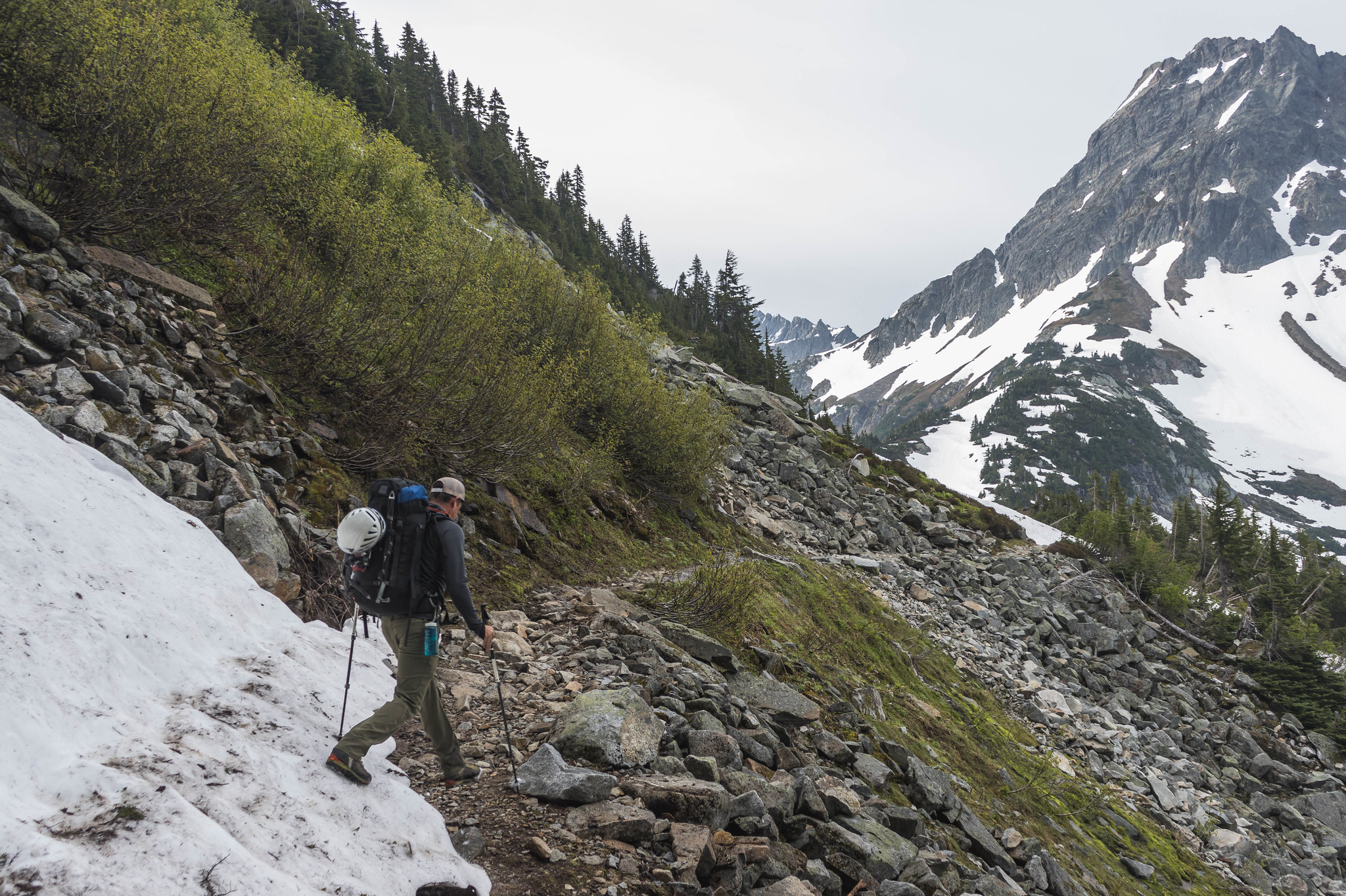 Snow patch before Cascade Pass