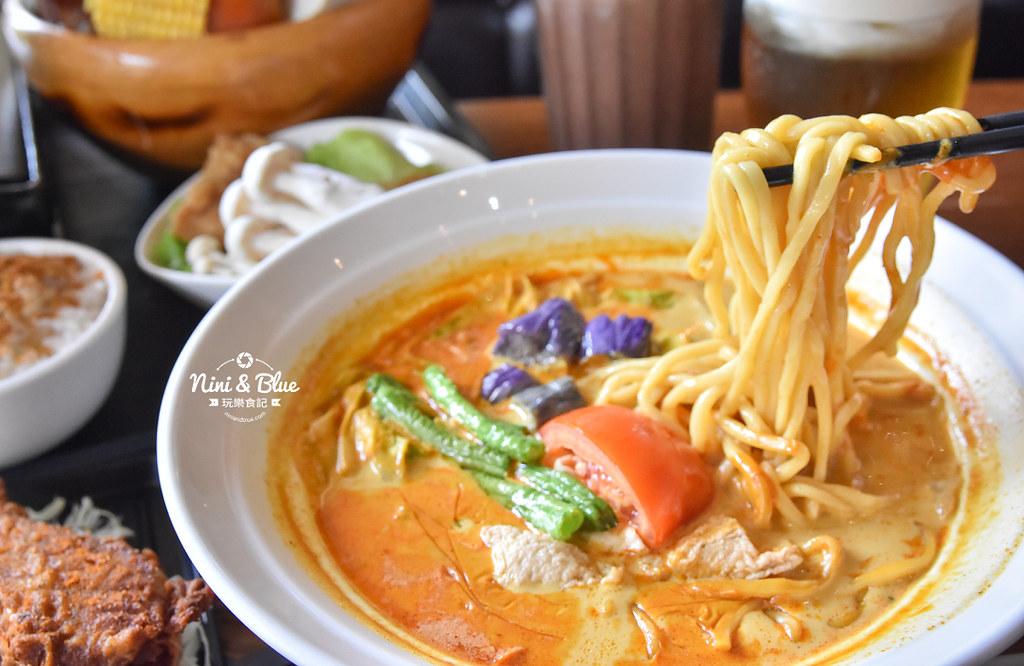 熱浪島 台中素食蔬食 南洋 叻沙麵 沙坑29