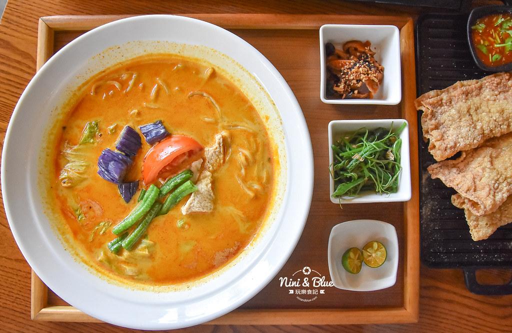 熱浪島 台中素食蔬食 南洋 叻沙麵 沙坑15
