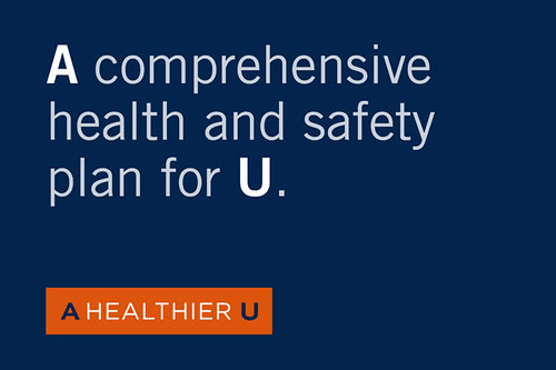 """Graphic stating """"A comprehensive health and safety plan for U."""""""