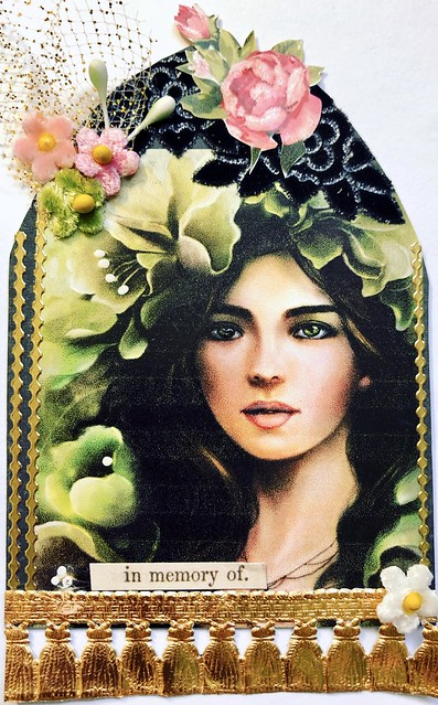 Flowers in Her Hair Gothic Arch ATC