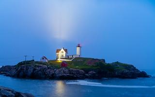 Nubble Lighthouse Fog