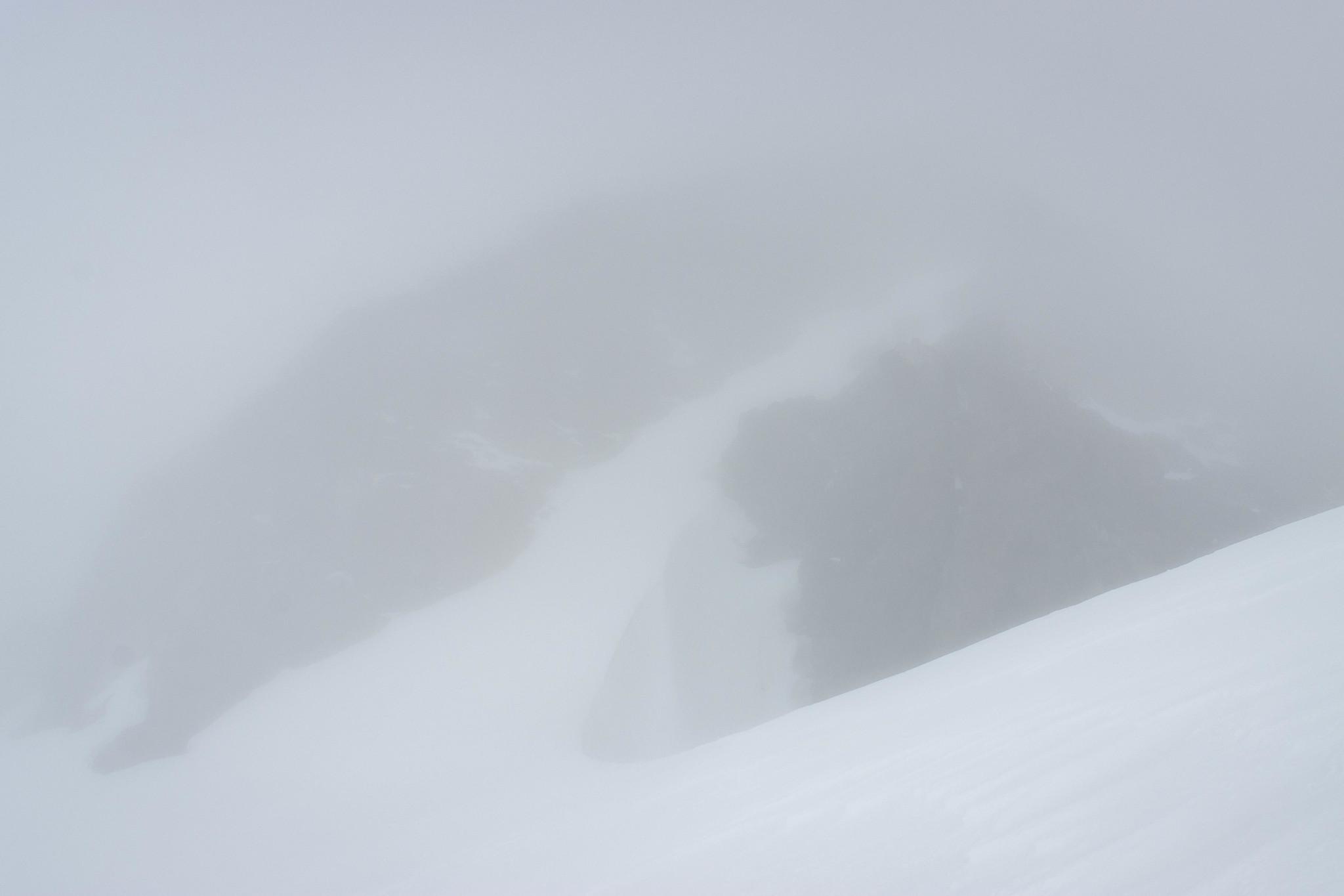Snow ramp on Old Guard Peak