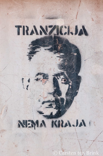 Pula stencil: Transition has no end / Tranzicija Nema Kraja | by 10b travelling / Carsten ten Brink