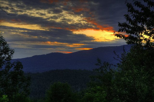Sunset over the Bavarian Forest