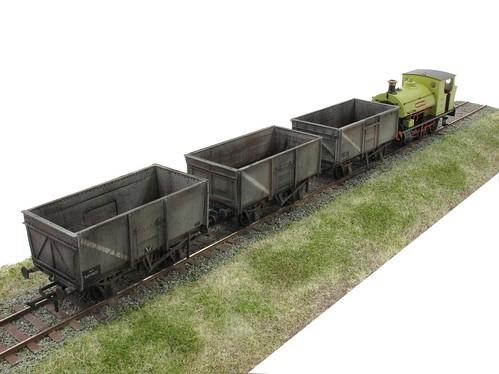 Three coal wagons