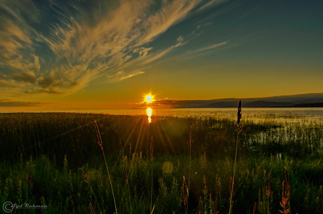 Sunset at Richmond, BC, Canada