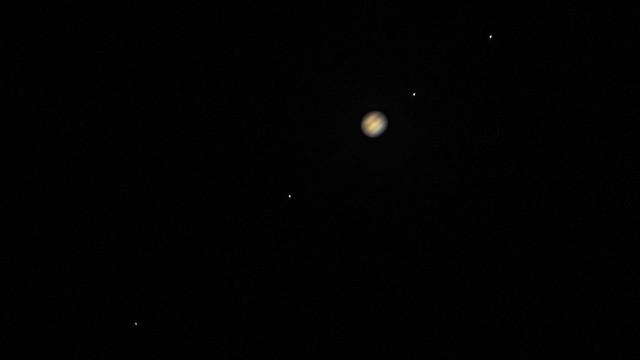 Jupiter and its 4 moons- Callisto, Io, Ganymede and Europe #jupiter #astrophotography #astrophysics #solar #planets #europa #callisto
