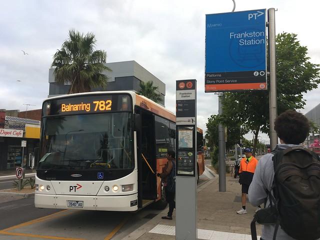 Bus running 782 to Balnarring at Frankston Station bus interchange