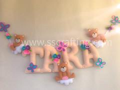 Felt name banner, room decor, wall hanging #felt #roomdecor #Babyroomdecor #Srilanka #senoandsanu