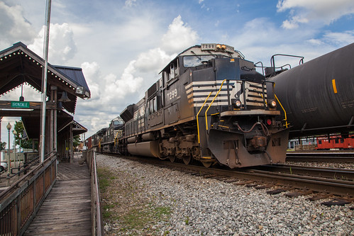 norfolksouthern train railroad irondalealabama alabamagreatsouthern eastenddistrict ns emd sd70acu rr viewingplatform manifest freight ge